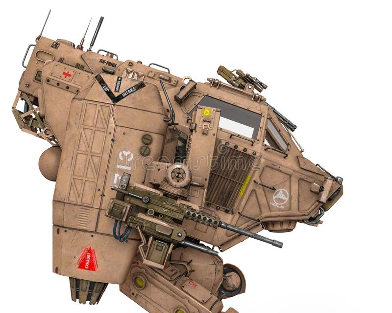Super machina wojenna royalty ilustracja