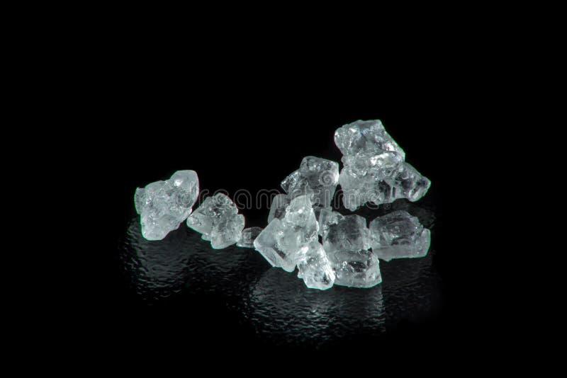 Super makro- cukrowi kryształy obrazy royalty free