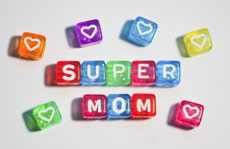 Super mama - Szczęśliwy matka dzień zdjęcia royalty free
