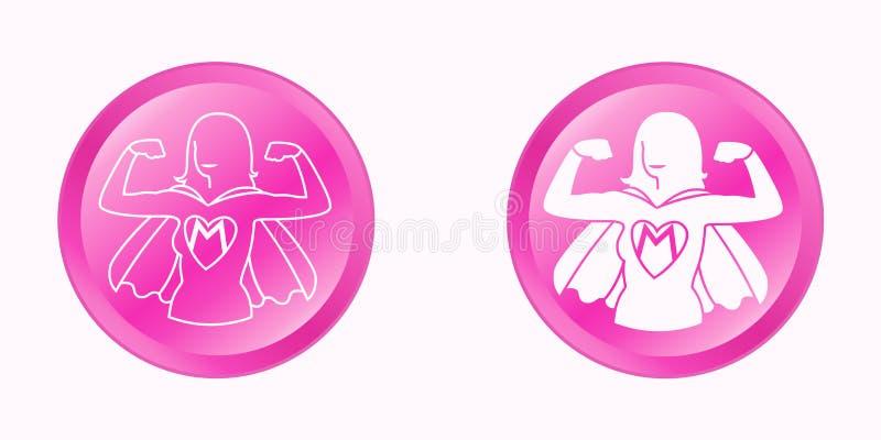 Super mamy round menchii guziki ustawiający ilustracji