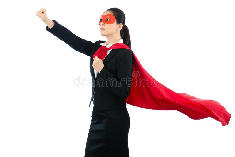 Super managerarbeider klaar om start te vliegen royalty-vrije stock afbeelding