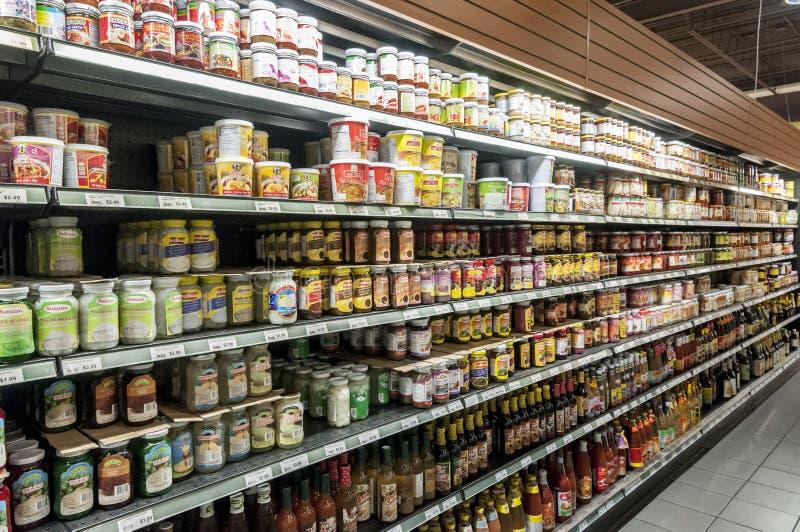 Super market shelf stock image