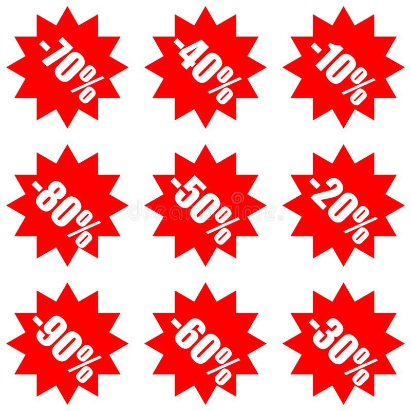Super Mega- Verkaufs- und Rabattwerbeaufkleber lizenzfreie abbildung