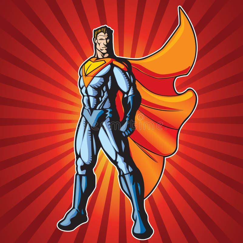 Super menselijke mens 3 vector illustratie