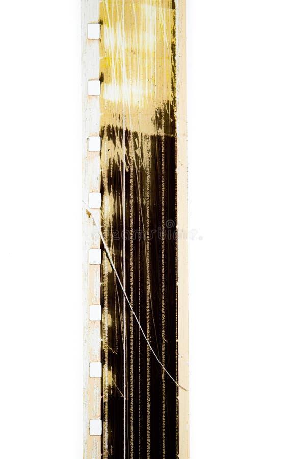 Super 8 mm Filmstreifen gekratzt Kinohintergrund lizenzfreies stockfoto