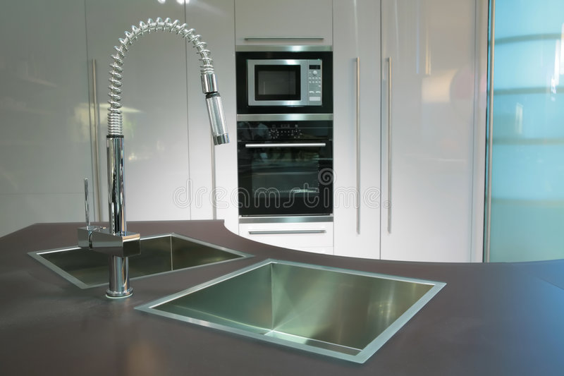 Super-modern keuken stock fotografie