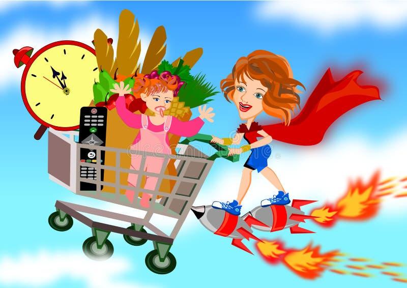 Super Mom royalty free illustration