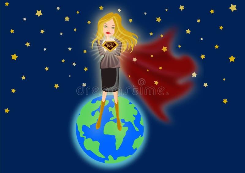 Super Mom vector illustration
