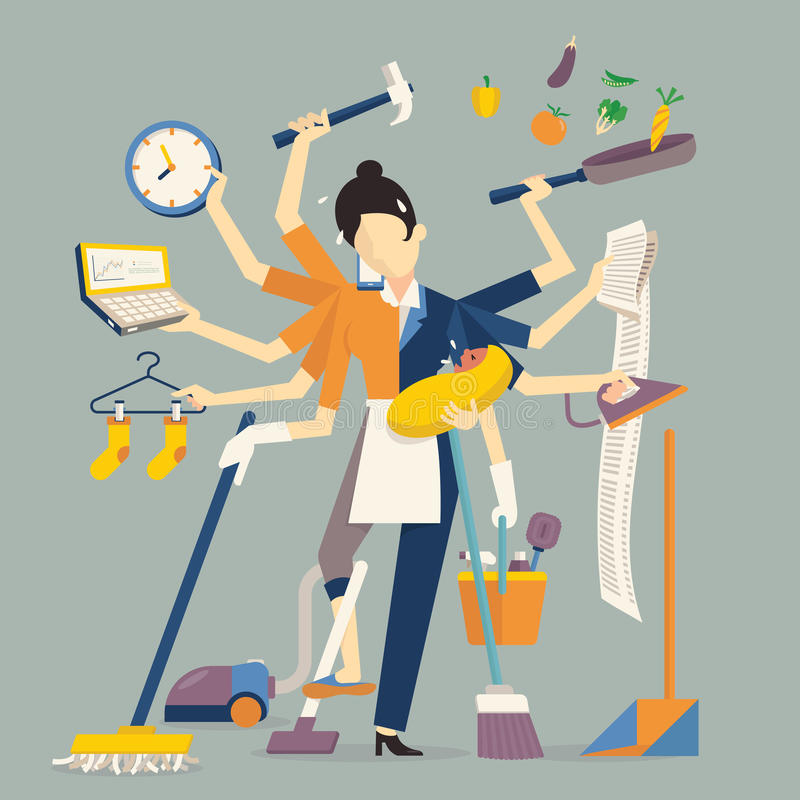 Super mom stock illustration
