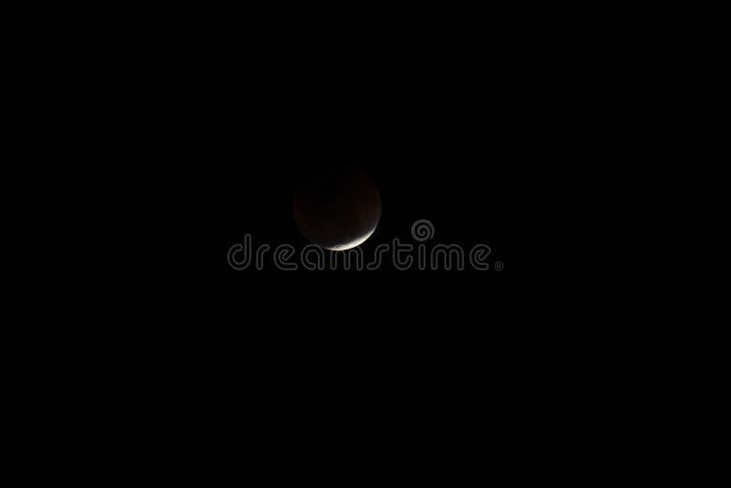 Super Mond und Mondfinsternis des blauen Bluts lizenzfreie stockfotografie