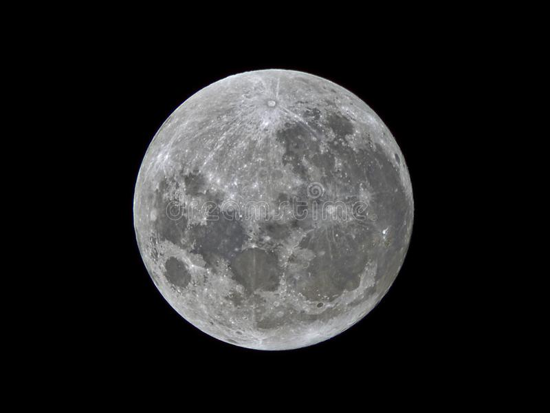 Super moon 2017 stock images