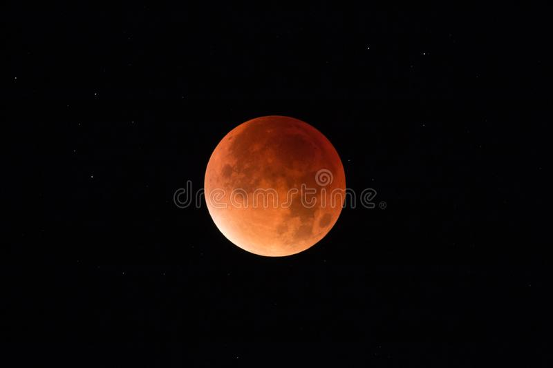 Super Moon Eclipse - Blood Moon royalty free stock image