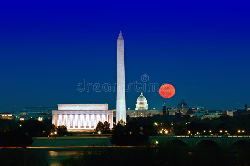 Super Moon Rising stock image