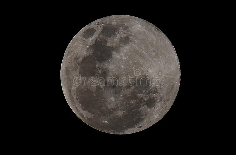 Super moon on sky. stock images