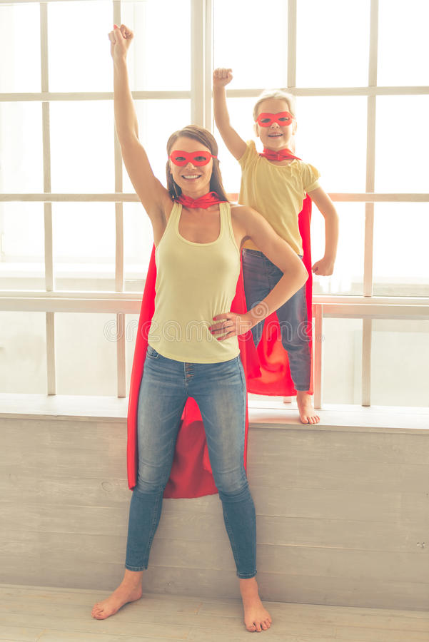 Free Super Mother And Daughter Royalty Free Stock Photos - 72995938