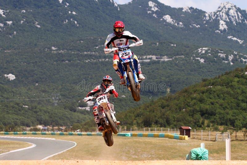 Super Moto. RIJEKA, CROATIA - JULY 8: SuperMoto World Championship on July 8, 2012 in Rijeka, Croatia royalty free stock photos