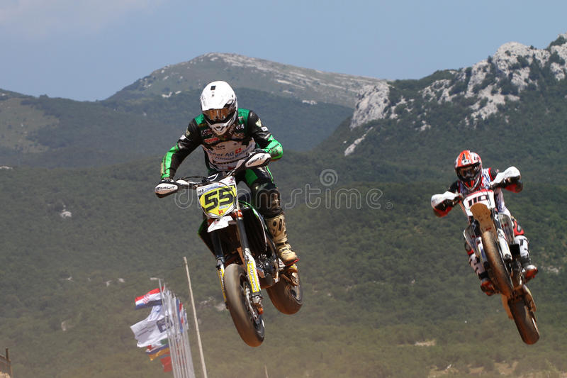 Super Moto Jump Editorial Image