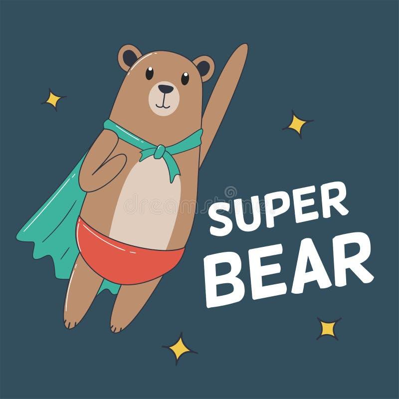 Super Niedźwiadkowy latanie royalty ilustracja