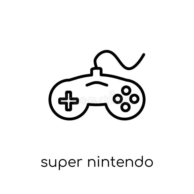 Super-Nintendo-Ikone Modischer moderner flacher linearer Vektor Super-nint stock abbildung
