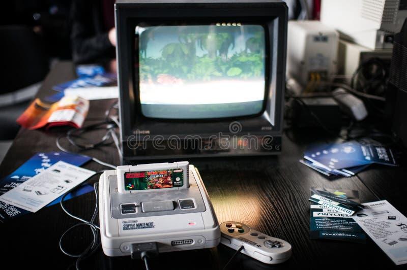 Super Nintendo rozrywki system zdjęcia stock