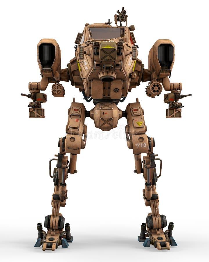 Super oorlogsmachine vector illustratie