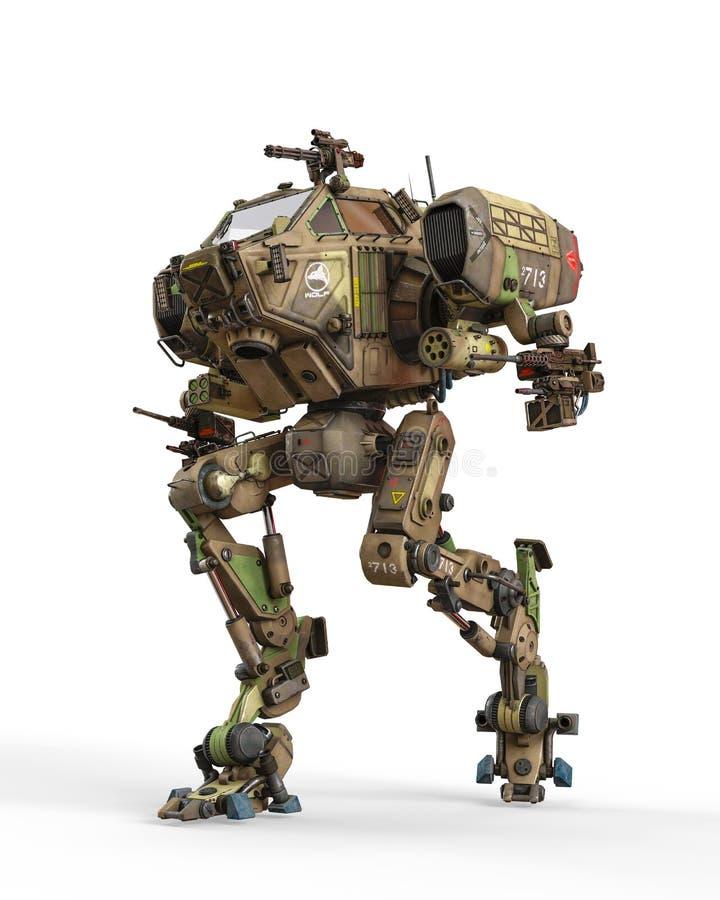 Super oorlogsmachine op groene camouflage royalty-vrije illustratie