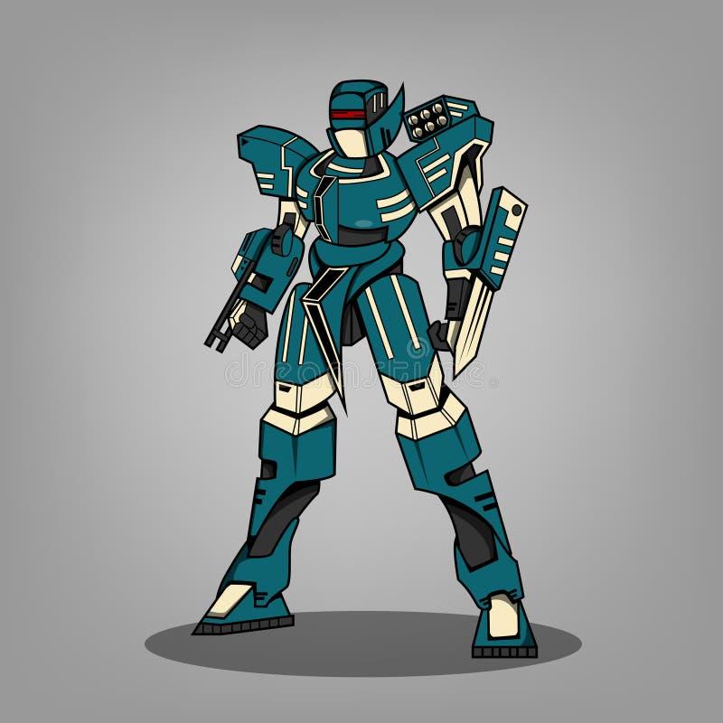 Super Oorlogsrobot vector illustratie