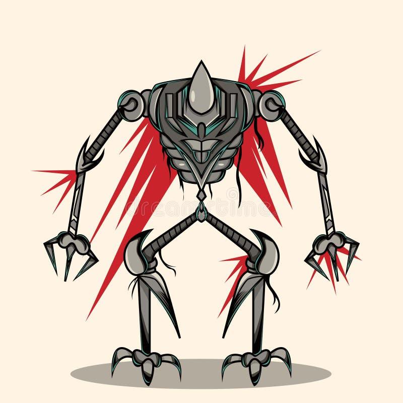 Super Oorlogsrobot stock illustratie