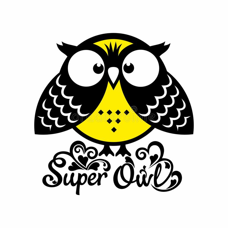 Super owl ready for feats royalty free illustration