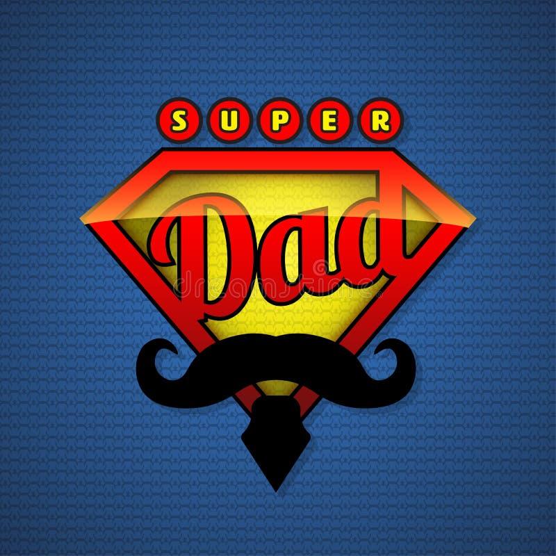 Super papaschild in pop-artstijl