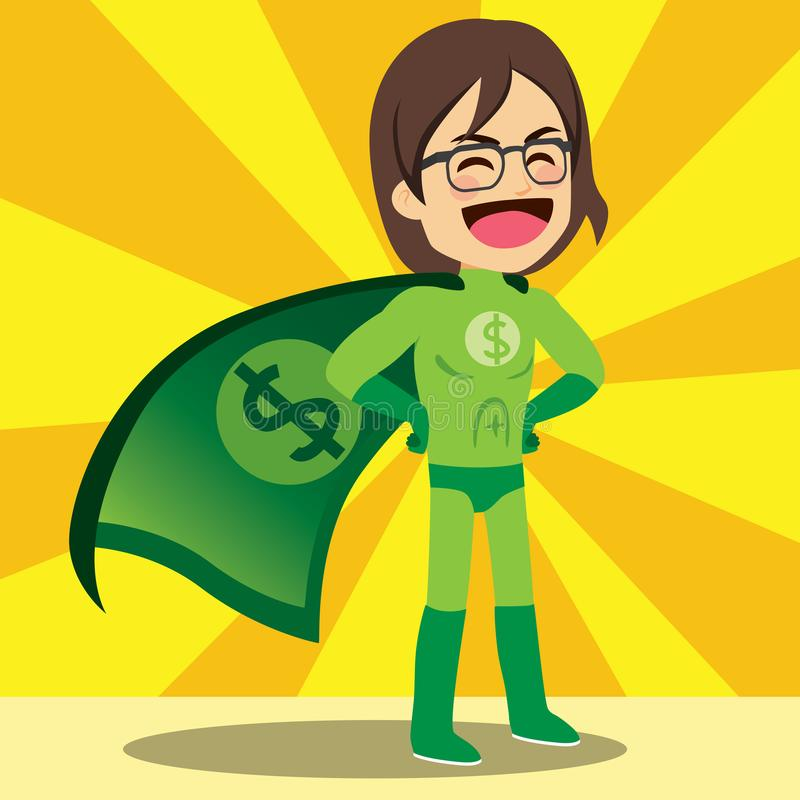 Super pieniądze bohater royalty ilustracja