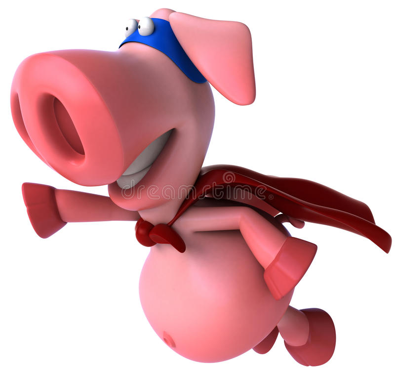 Free Super Pig Royalty Free Stock Photography - 19171987
