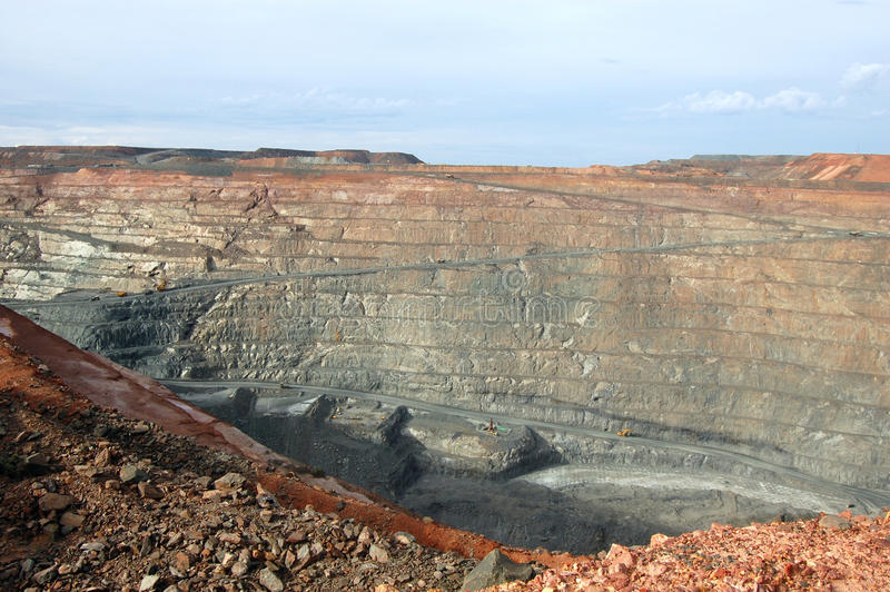 Super Pit gold mine Australia royalty free stock photo