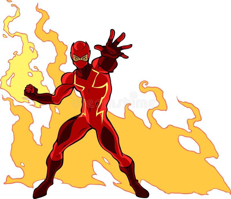 Super pożarniczy bohater ilustracja wektor