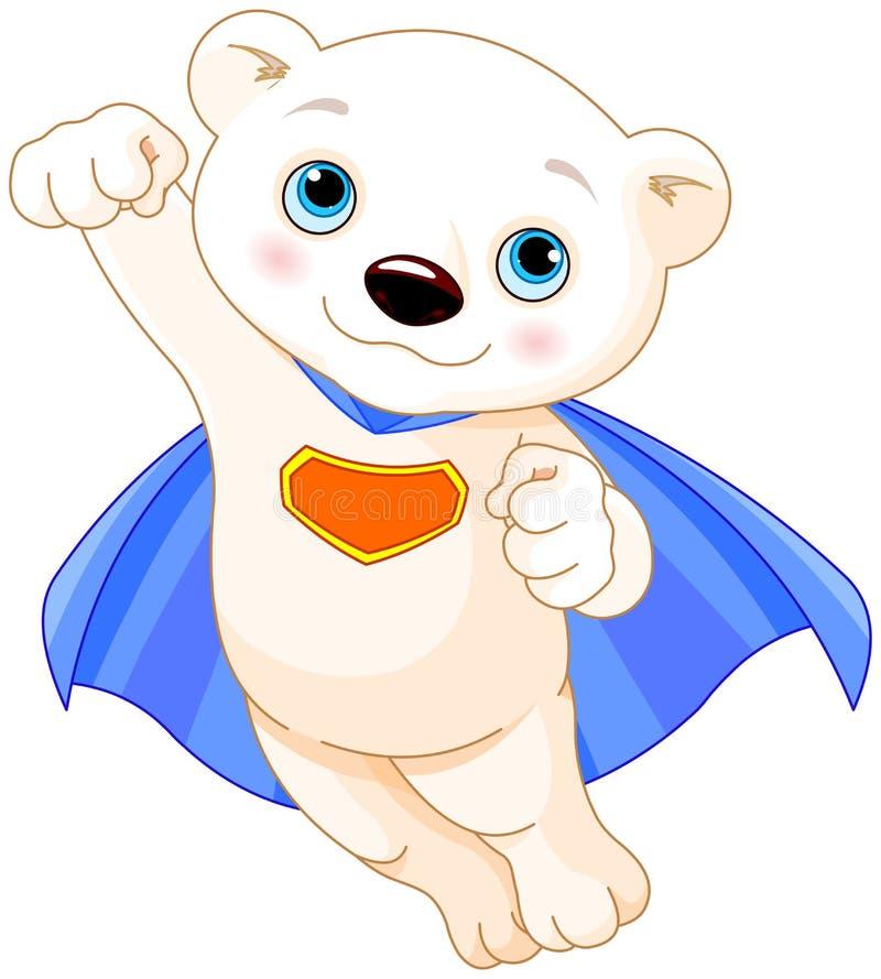 Super Polar Bear. Illustration of Super Hero Polar Bear stock illustration