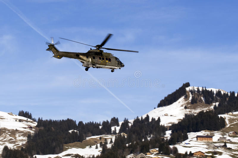 Super Puma Helicopter Royalty Free Stock Images