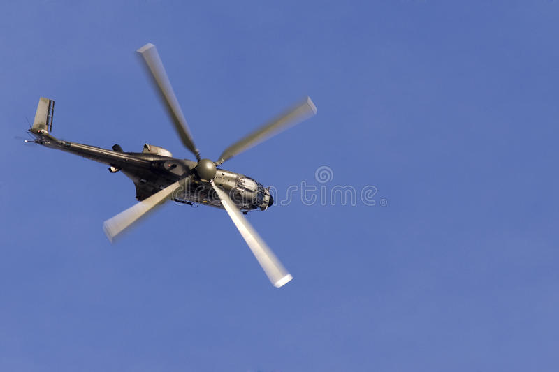 Super Puma helicopter stock photography