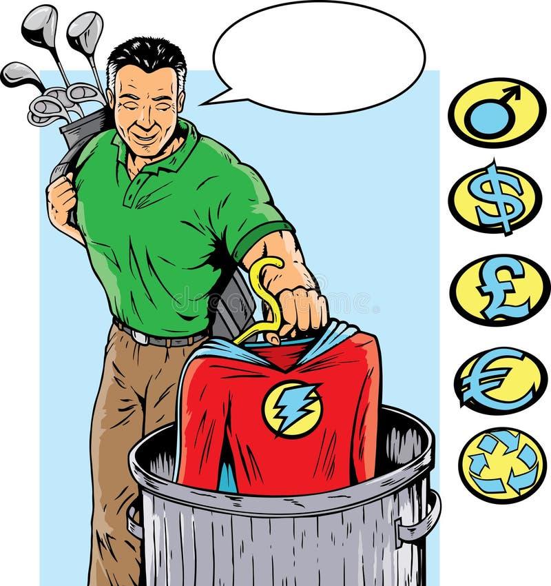 Super Retirement vector illustration
