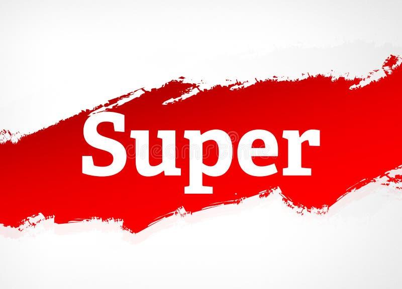 Super Rode Borstel Abstracte Illustratie Als achtergrond stock illustratie