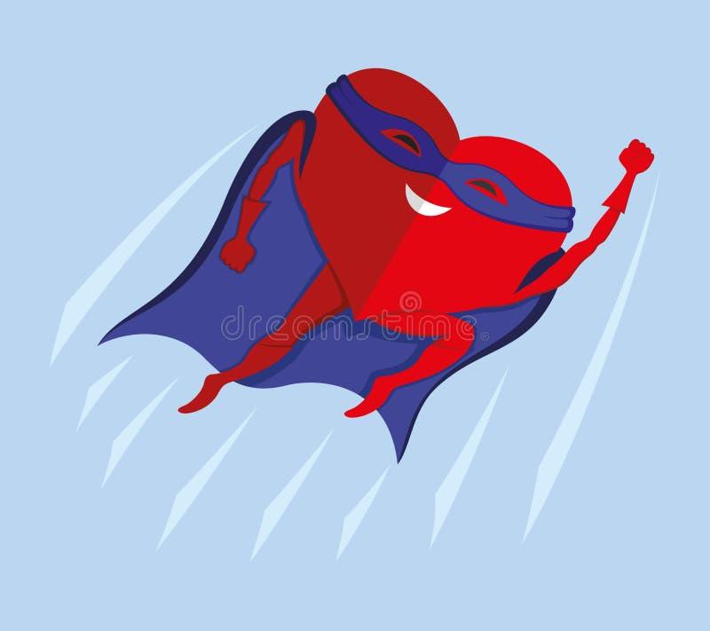Super rood hart stock illustratie