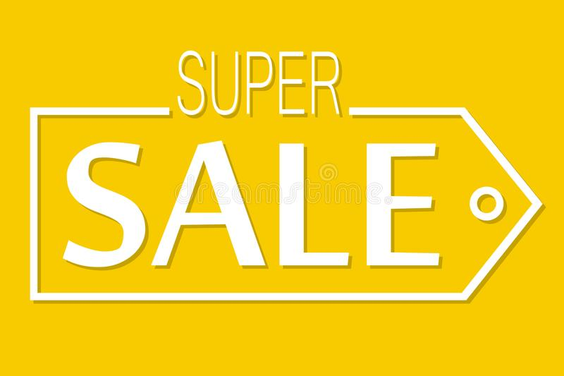 Super sale, discount banner stock illustration