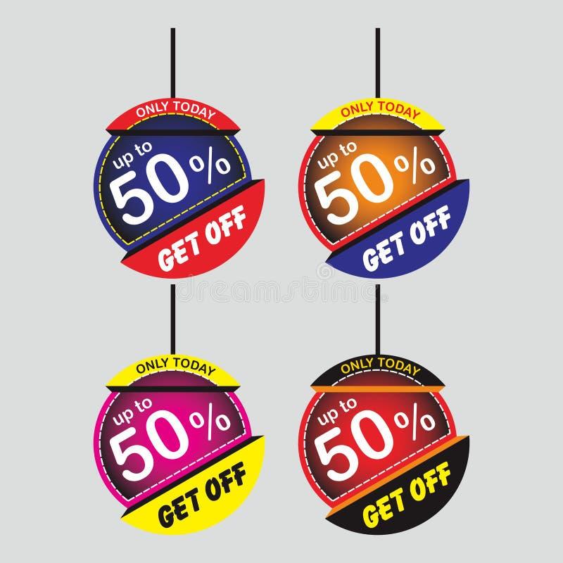 Super Sale Paper Banner, Sale Paper Tag, Sale Poster, Sale Flyer, Upto 50% Off, Sale Ribbon, Sale Sticker, Shiny vector illustrati stock illustration