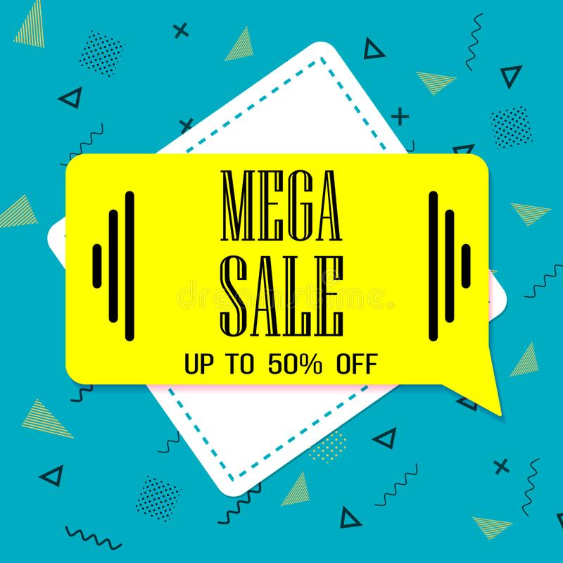 Mega sale. Big Sale banner template red.special offer price stock photo