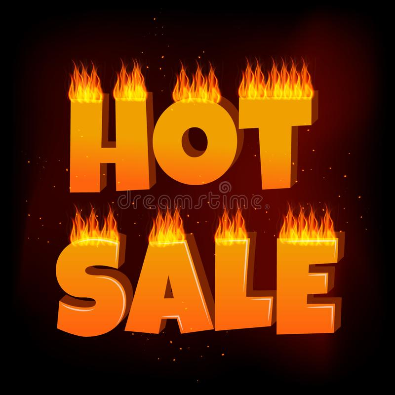 hotsale banner template and fire stock photo