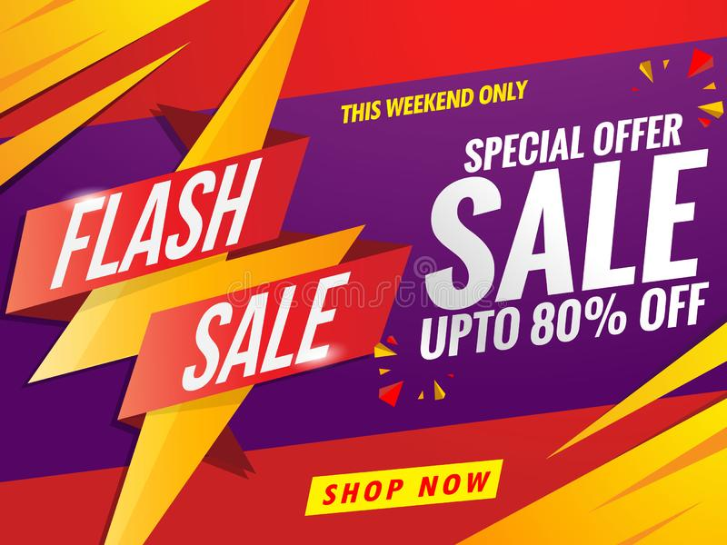 flash Sale banner template red stock photo