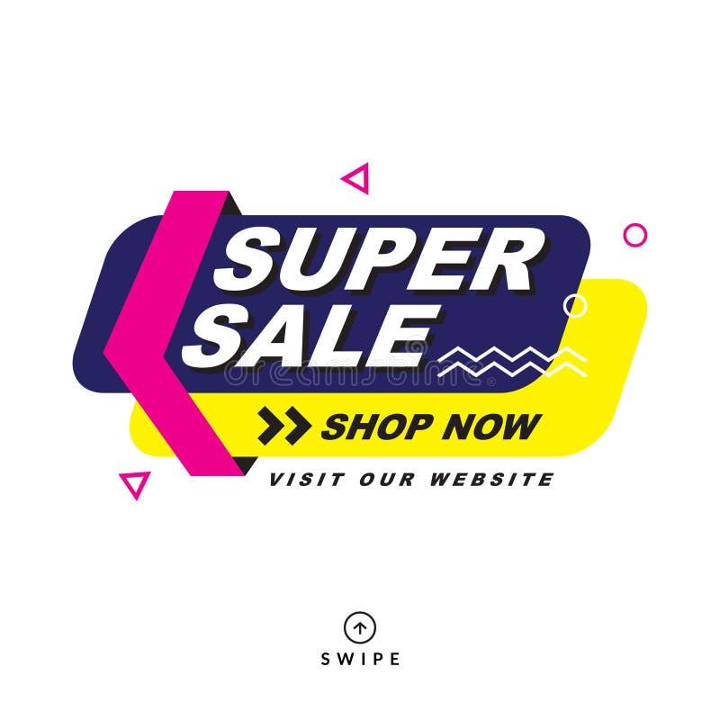 Super sale  special offer banner. stock illustration