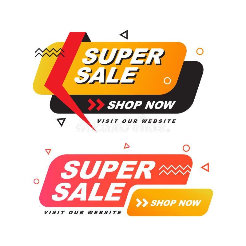 Super sale  special offer banner. Vector illustration. vector illustration