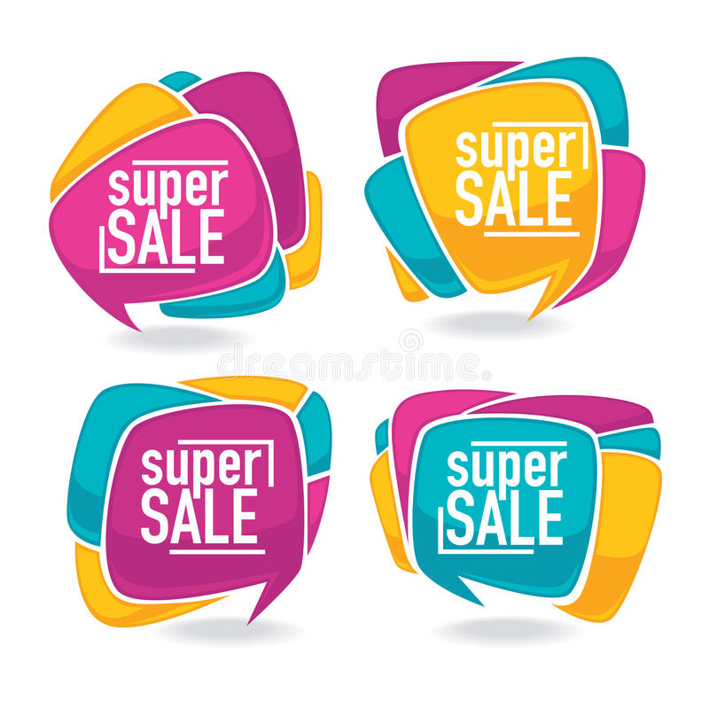 Super sale royalty free illustration