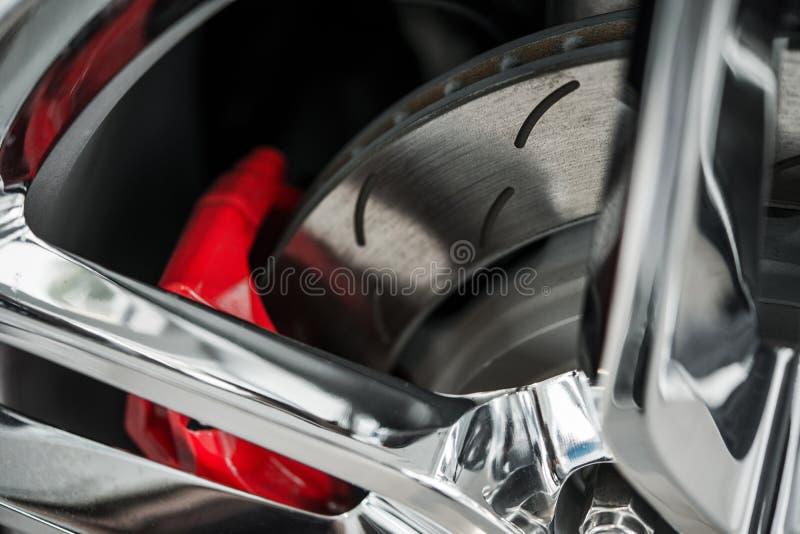 Super samochodów hamulce obrazy stock