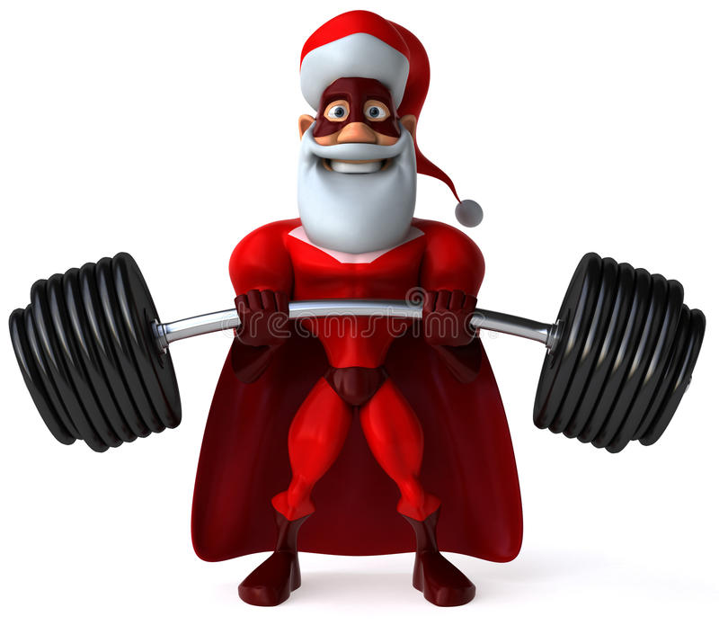Super Santa Claus vector illustration